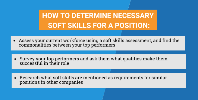How to determine necessary soft skills for a position