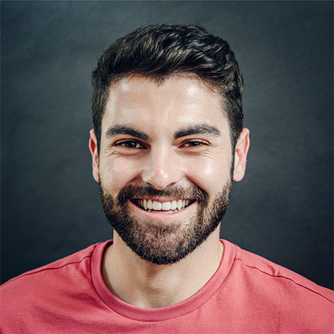 Portrait of a man in a red shirt