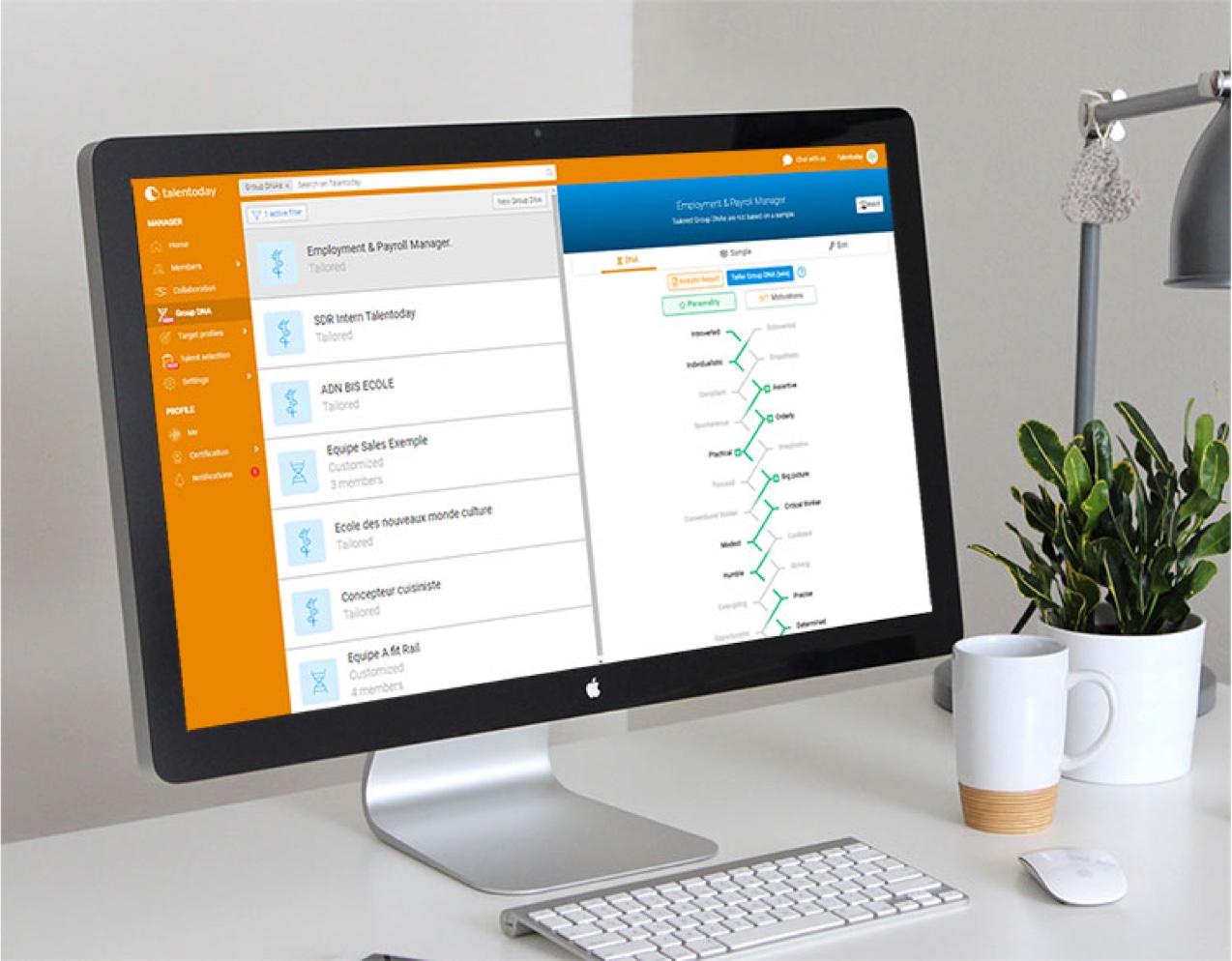 Talentoday report shown on a desktop screen